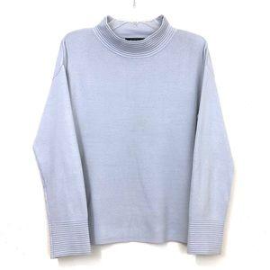Ellen Tracy Soft Blue Mock Turtleneck Sweater